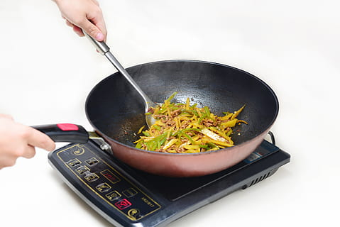 Portable cooktop cooking