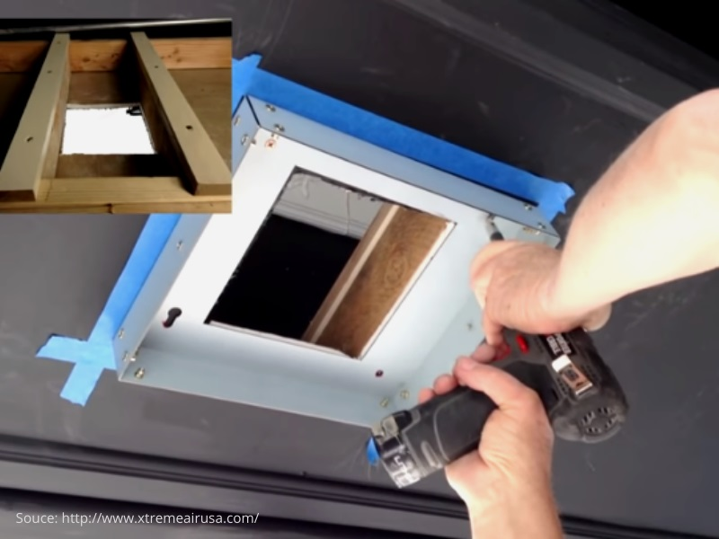 The ceiling bracket install